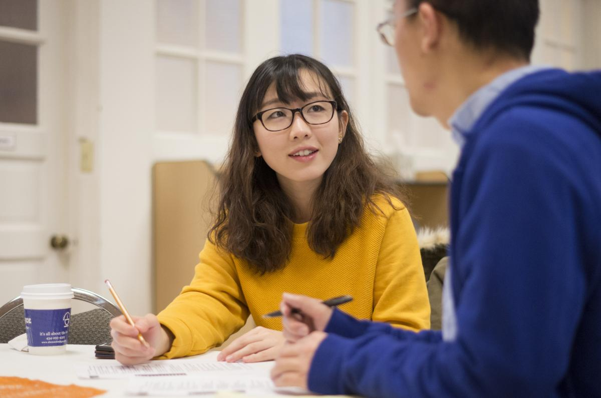 UVA student as a ESOL tutor