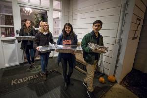 Students delivering food